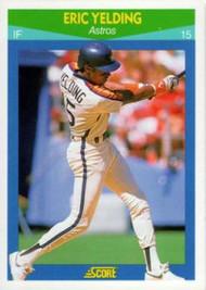 1990 Score Rising Stars #16 Eric Yelding VG Houston Astros