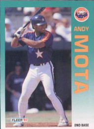 1992 Fleer #441 Andy Mota VG Houston Astros
