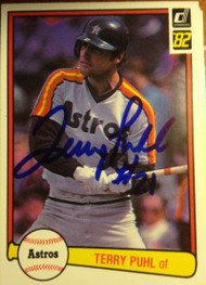 Terry Puhl Autographed 1982 Donruss #370