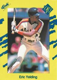 1990 Classic Yellow #58 Eric Yelding VG Houston Astros