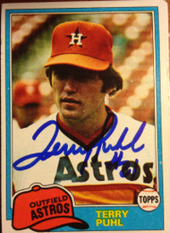 Terry Puhl Autographed 1981 Topps #411