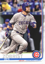 2019 Topps #9 Ben Zobrist NM-MT Chicago Cubs