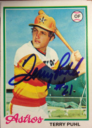 Terry Puhl Autographed 1978 Topps #553 Rookie Card