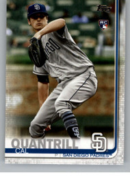 2019 Topps Update #US23 Cal Quantrill NM-MT RC Rookie San Diego Padres