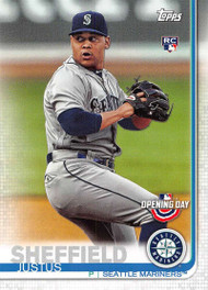2019 Topps Opening Day #88 Justus Sheffield NM-MT RC Rookie Seattle Mariners