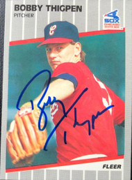 Bobby Thigpen Autographed 1989 Fleer #512