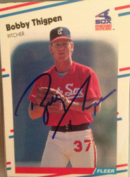 Bobby Thigpen Autographed 1988 Fleer #410