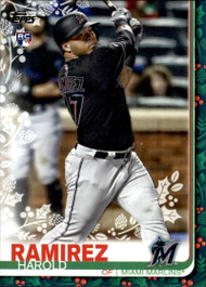 2019 Topps Holiday #HW20 Harold Ramirez NM-MT  RC Rookie Miami Marlins