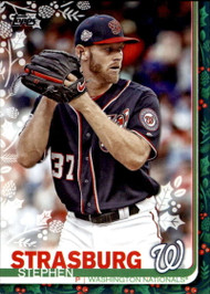 2019 Topps Holiday #HW24 Stephen Strasburg NM-MT  Washington Nationals