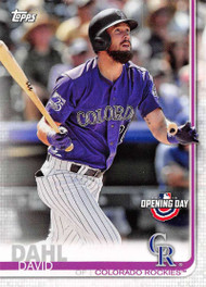 2019 Topps Opening Day #29 David Dahl NM-MT Colorado Rockies