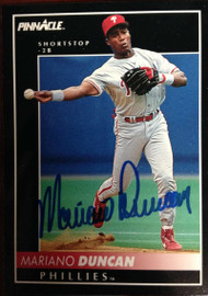 Mariano Duncan Autographed 1992 Pinnacle #377