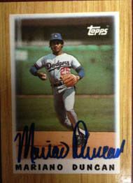 Mariano Duncan Autographed 1987 Topps Mini #13