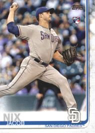 2019 Topps #33 Jacob Nix NM-MT RC Rookie San Diego Padres