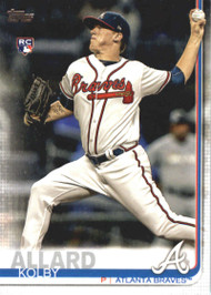 2019 Topps #38 Kolby Allard NM-MT RC Rookie Atlanta Braves