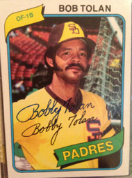 Bobby Tolan Autographed 1980 Topps #708