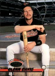1993 Stadium Club #326 Glenn Davis VG Baltimore Orioles