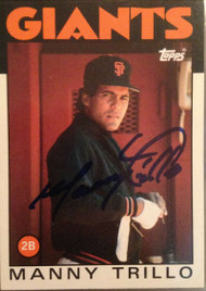Manny Trillo Autographed 1986 Topps #655