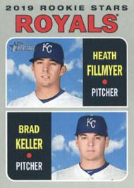 2019 Topps Heritage #371 Heath Fillmyer/Brad Keller NM-MT  RC Rookie Kansas City Royals