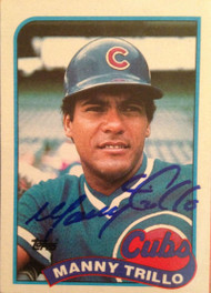 Manny Trillo Autographed 1989 Topps #66