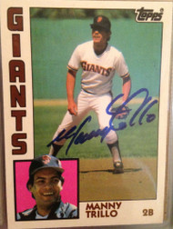 Manny Trillo Autographed 1984 Topps Traded #121-T