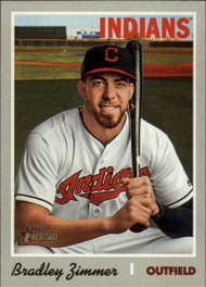 2019 Topps Heritage High Number #518 Bradley Zimmer NM-MT Cleveland Indians
