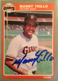 Manny Trillo Autographed 1985 Fleer #622