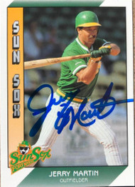 Jerry Martin Autographed 1991 Pacific Senior League #14
