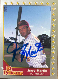 Jerry Martin Autographed 1990 Pacific Senior League #6