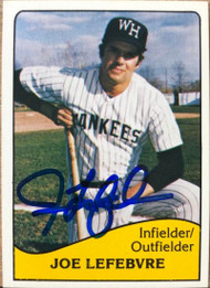 Joe Lefebvre Autographed 1979 TCMA West Haven Yankees #25