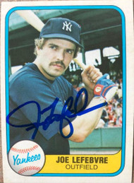 Joe Lefebvre Autographed 1981 Fleer #103 Rookie Card