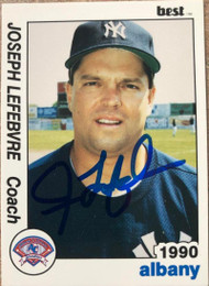 Joe Lefebvre Autographed 1990 Best Albany-Colonie Yankees #25