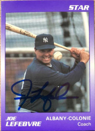 Joe Lefebvre Autographed 1990 Star Albany-Colonie Yankees #25
