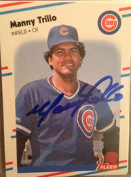 Manny Trillo Autographed 1988 Fleer #436