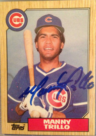 Manny Trillo Autographed 1987 Topps #732