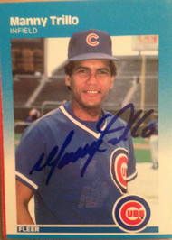 Manny Trillo Autographed 1987 Fleer #577