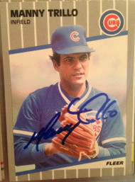 Manny Trillo Autographed 1989 Fleer #440