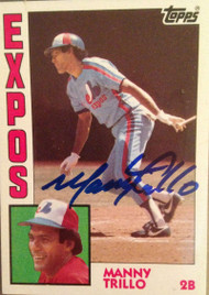 Manny Trillo Autographed 1984 Topps #180