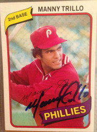 Manny Trillo Autographed 1980 Topps #90