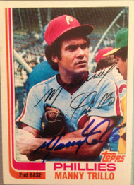Manny Trillo Autographed 1982 Topps #220