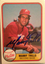 Manny Trillo Autographed 1981 Fleer #3