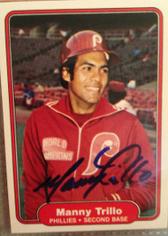 Manny Trillo Autographed 1982 Fleer #260