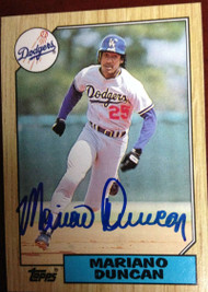 Mariano Duncan Autographed 1987 Topps #199