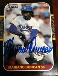 Mariano Duncan Autographed 1987 Donruss #253