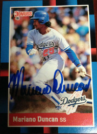 Mariano Duncan Autographed 1988 Donruss #155