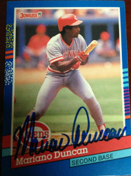 Mariano Duncan Autographed 1991 Donruss #309