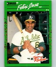 1990 Donruss Rookies #5 Felix Jose VG Oakland Athletics