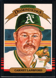 1985 Donruss #8 Carney Lansford DK VG Oakland Athletics