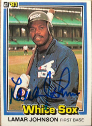 Lamar Johnson Autographed 1981 Donruss #38
