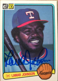 Lamar Johnson Autographed 1983 Donruss #142