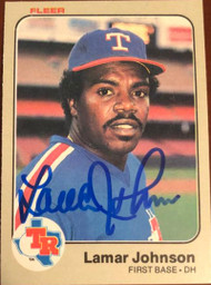 Lamar Johnson Autographed 1983 Fleer #571